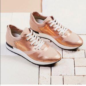 NIB Free People sneakers in rose gold  8